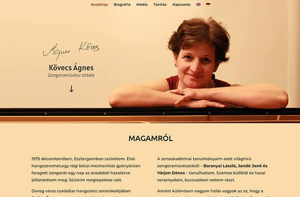 agneskovecs.com honlapkép