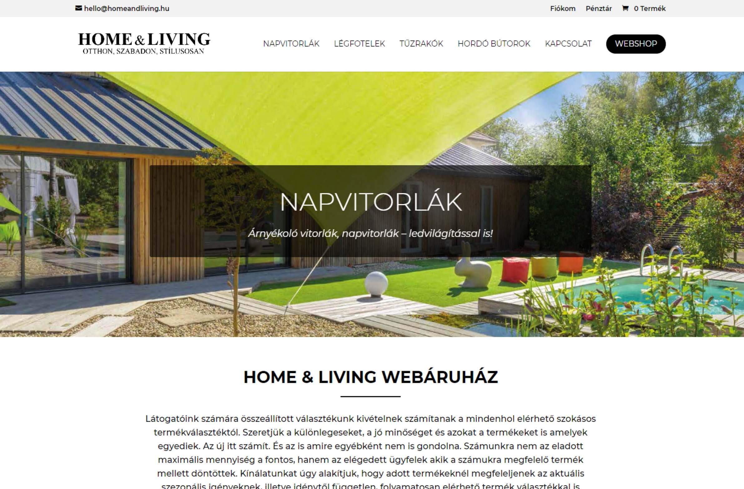 homeandliving.hu honlapkép