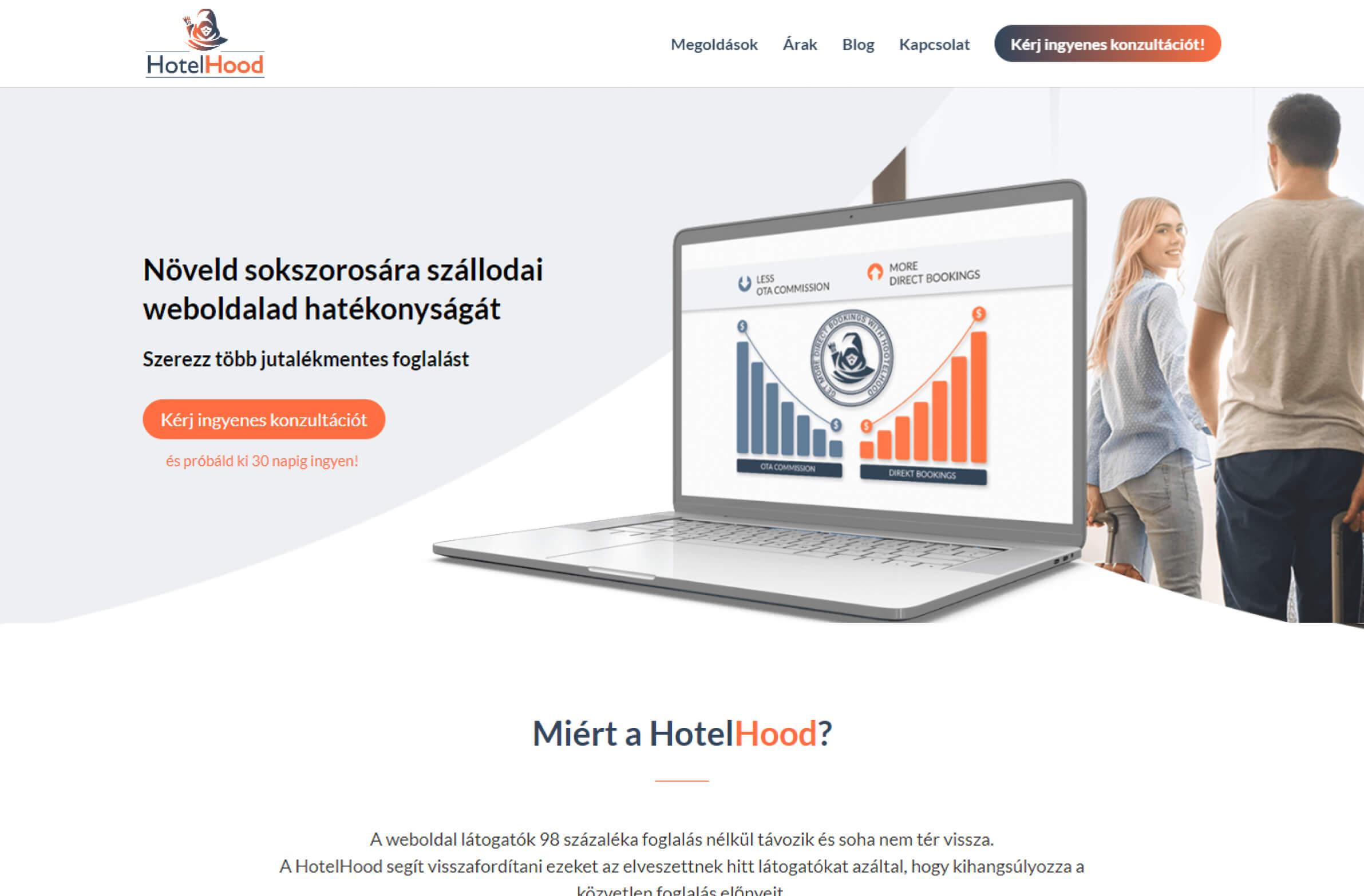 hotelhood.hu honlapkép