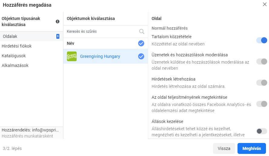 Objektum-alapú hozzáférés - oldalak