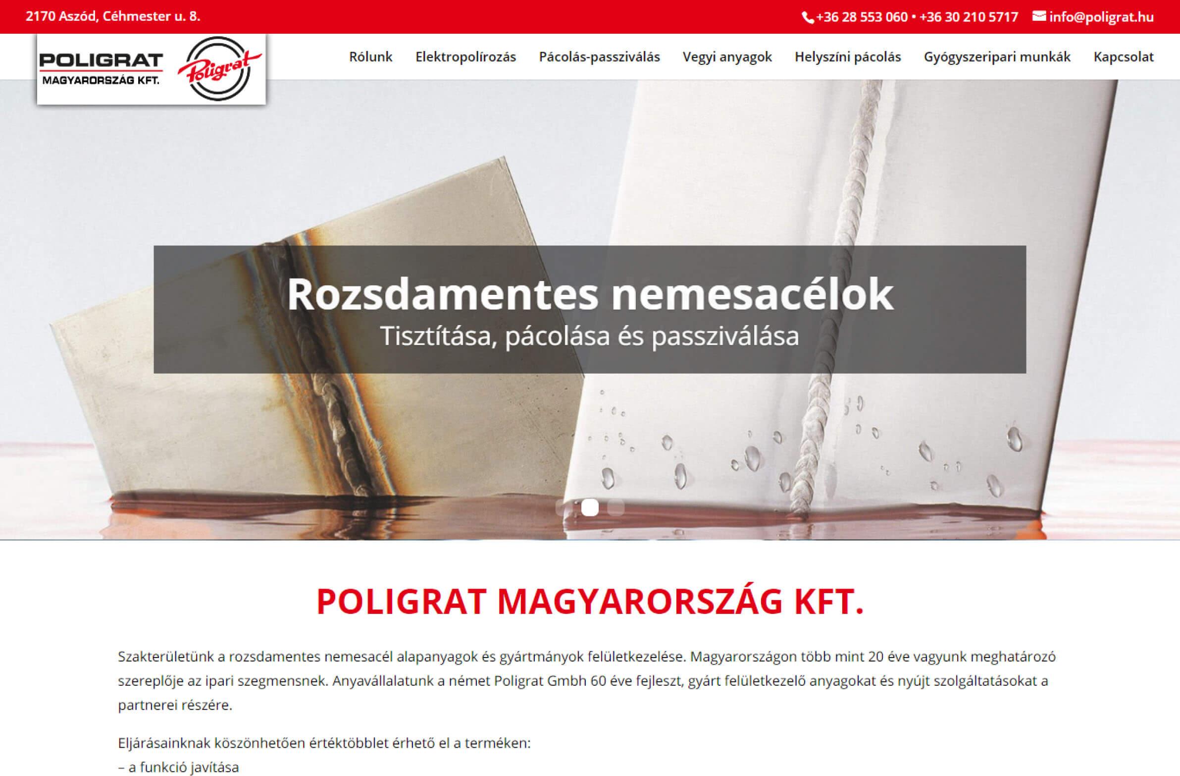 poligrat.hu honlapkép